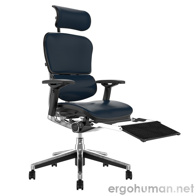 Ergohuman Elite Leather Office Chair with Head Rest and Leg Rest