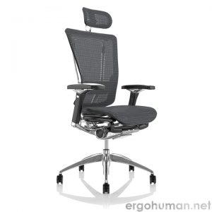 Nefil Grey Mesh Office Chair with Head Rest