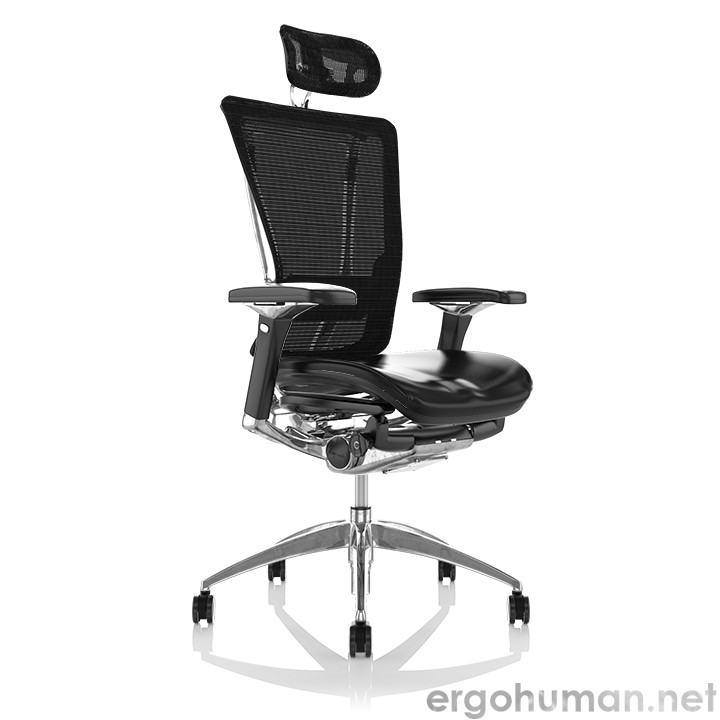 Nefil Real Leather Office Chair with Head Rest